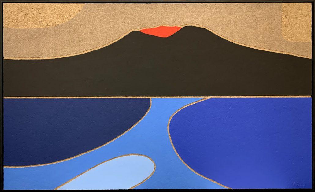 Il Vesuvio e i colori del golfo di Napoli - cm 90x150
